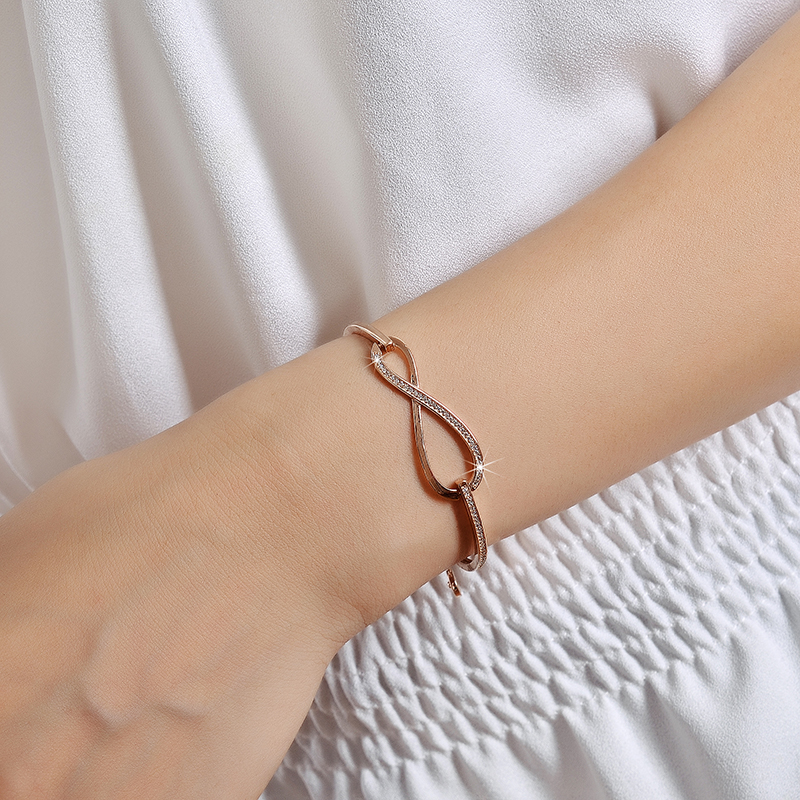 Diamond Paved Infinity Bracelet