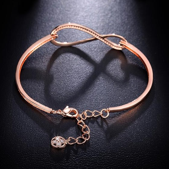 Diamond Paved Infinity Bracelet