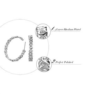 Unique Design Infinity Open Ear Earrings